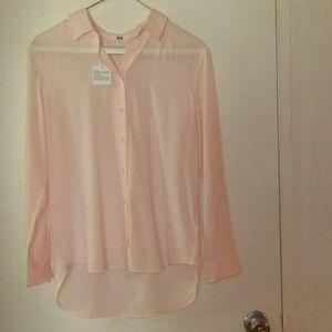 Uniqlo Pink Long - Sleeve Shirt XS